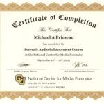 Forensic Expert Training Experience