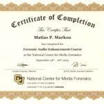 Matias Markou Enhancement Certificate