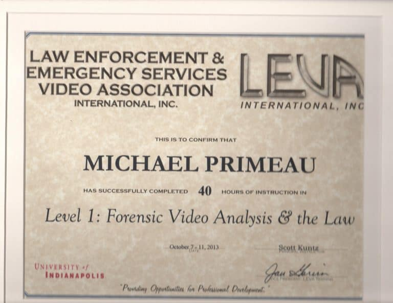 Forensic Video Analysis and The Law