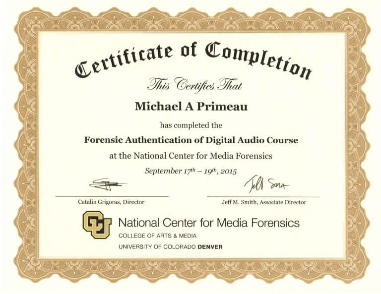 Forensic Audio Authentication